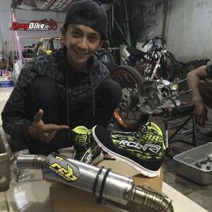 Asep Robot tambah pede pake sepatu RCB Racing Drag Shoe