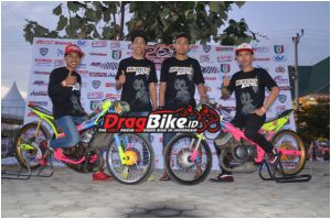 Sony Andeta, Age Alhasbi, Erwin Mbot dan Dhimas Mlehoy Ambil posisi dragster team ini