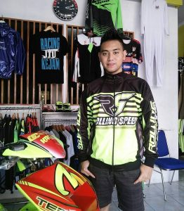 Banyak di pakai pembalap top. Salah satunya Tedy Permana pembalap road race dari Karawang